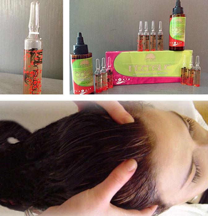 Massaggio del cuoio capelluto