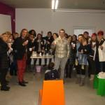 Paolo Tesser festeggia con i collaboratori